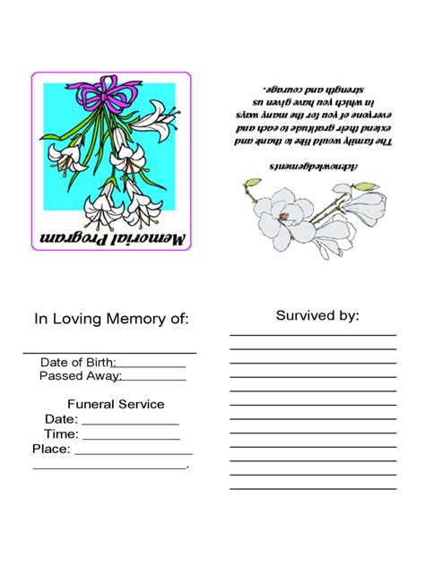 funeral flowers card template funeral card template 2 free templates in pdf word
