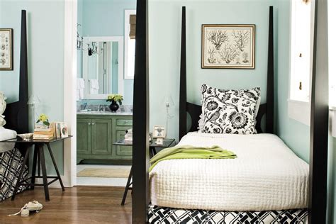 southern living bedroom ideas black white and blue gracious guest bedroom decorating