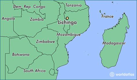 mozambique in world map where is lichinga mozambique where is lichinga