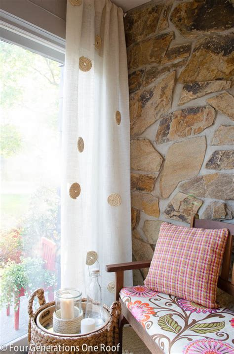 making curtains out of burlap how to eliminate burlap curtain odor four generations