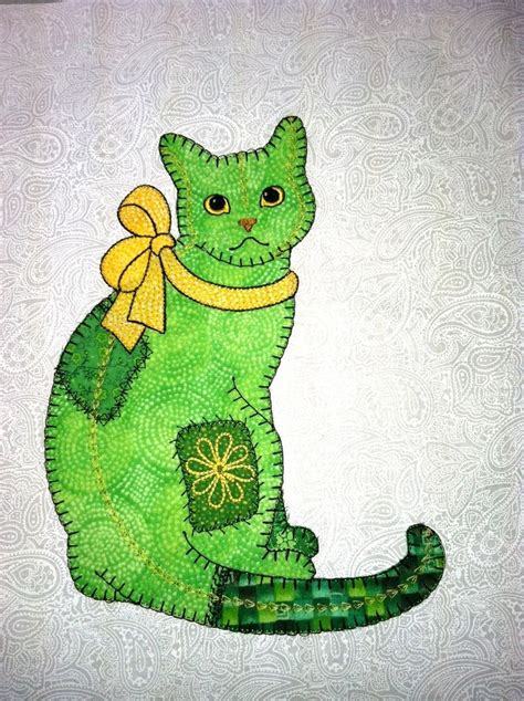 Applique Patchwork Designs - 1000 ideas about cat applique on cat quilt