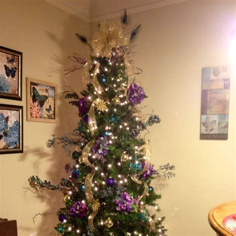 christmas tree in teal purple gold christmas pinterest