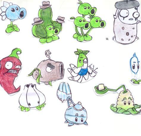 imagenes de plantas vs zombies navidad dibujos de plantas vs zombies echos mano taringa