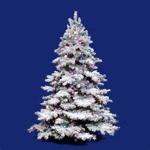 10 foot flocked alaskan christmas tree all lit lights a806386