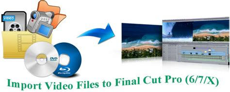 final cut pro video formats how to import media files to final cut pro 6 7 x