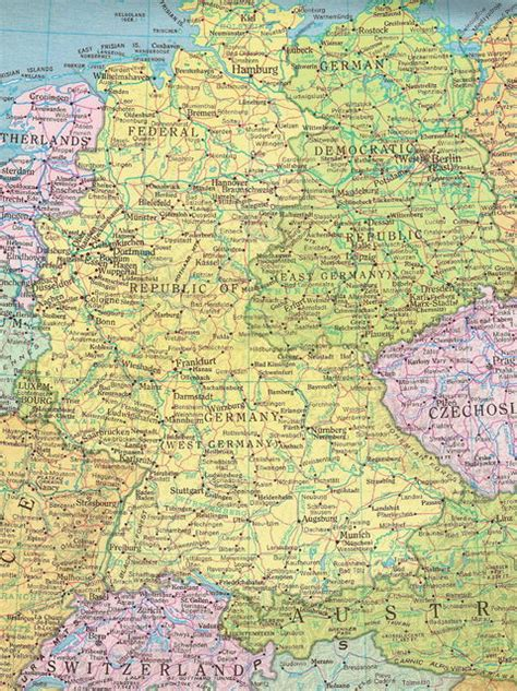 map of east and west germany with cities former east germany and west germany