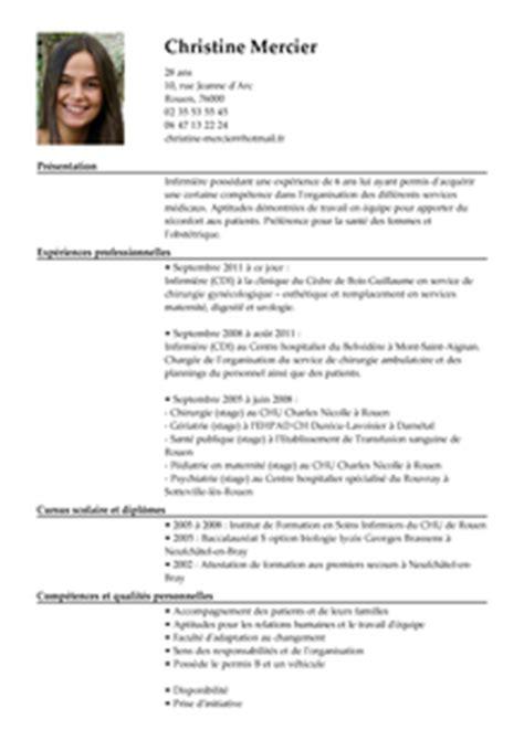 Lettre De Présentation Cv Infirmière Auxiliaire Modele Cv Infirmier Cv Anonyme