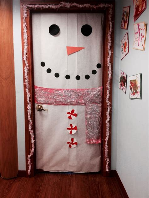 christmas themed doors door decorations christmas themed supervision pinterest