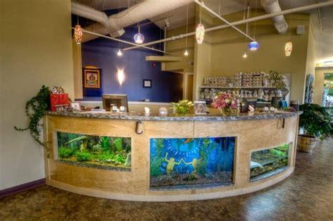 Fish Tank Reception Desk Fish Tanks In Reception Desk At Veterinarian S Hospital Yelp