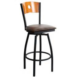 Metal Bar Stool With Back Interchangeable Back Metal Swivel Bar Stool With A Circled Back