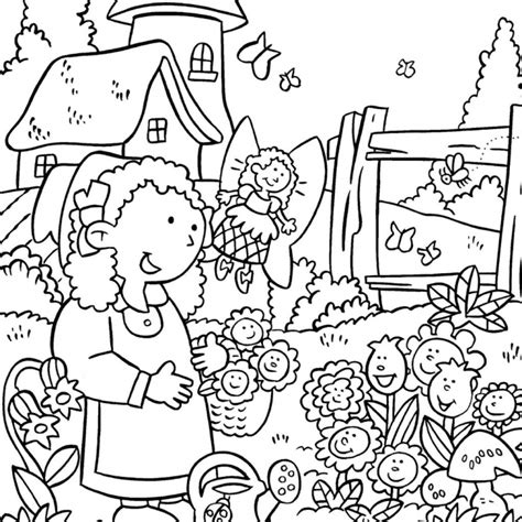 Flower Garden Coloring Pages For by Flower Garden Coloring Pages To And Print For Free