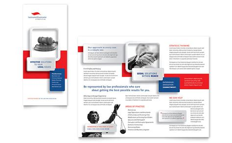 justice legal services brochure template design