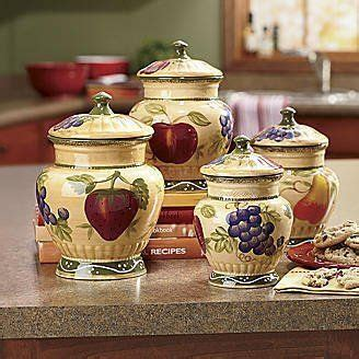 tuscan style kitchen canister sets 4pc italian canister set tuscany fruit decor by ack 69