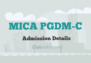 Mica Mba Entrance by Mica Pgdm C Admission 2016 Getentrance