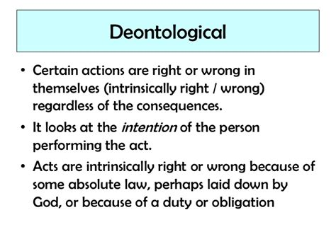Deontology Ethics Essay by Deontology And Utilitarianism Essay