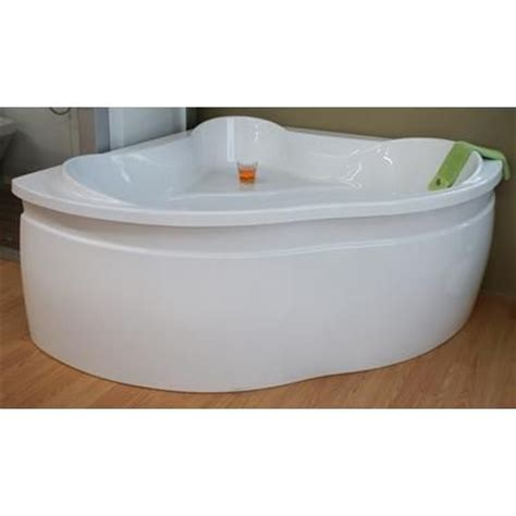54 bathtub canada jade bath harbour 54 inch corner acrylic tub with skirt ba1054 sk home depot