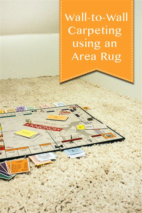 Area Rug On Wall To Wall Carpet faking wall to wall carpet with an area rug pretty handy