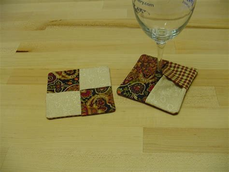 pattern for fabric wine coasters you have to see wine glass coasters on craftsy