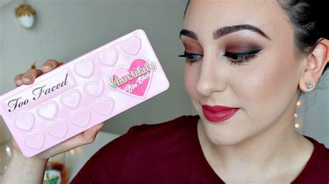 makeup tutorial two face first impression too faced chocolate bon bons palette