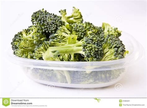 Broccoli Shelf by Broccoli In A Plastic Storage Container Stock Image Image 21883291