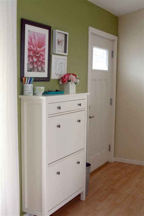 entryway shoe storage cabinet ikea hemnes shoe cabinet bungalow home staging redesign