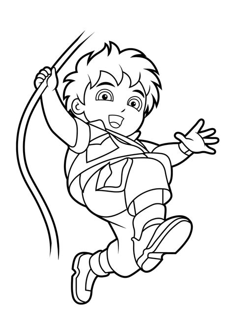 Free Coloring Pages Of Diego Diego Coloring Pages Free