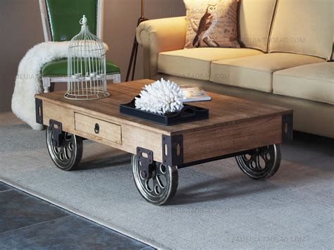 rustic floor l with table rustic coffee table with wheels design decoration