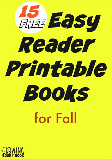 printable toddler books fall easy reader printable books for kids