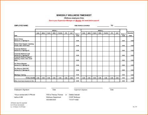 biweekly timesheet template sales report template