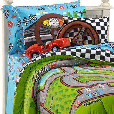 Race Car Bedroom Set by Race Cars Racetrack Boys 3pc Comforter Set Joshua S