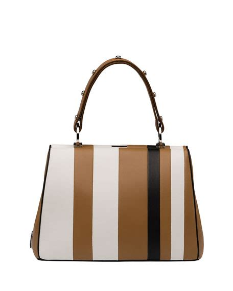 Prad Org Address Search Prada Baiadera Arcade Stripe Frame Satchel Bag Camel White Black Caramel Bianco Nero
