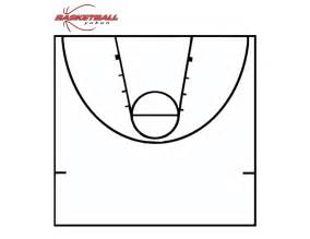Basketball Half Court Template by Printable Basketball Court Clipart Best