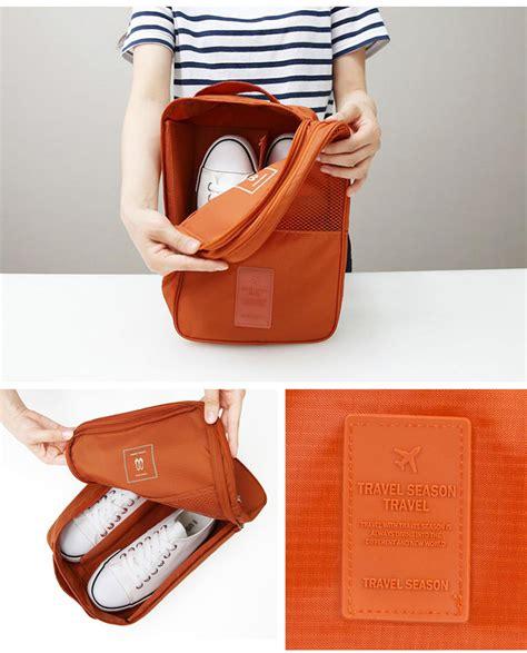 Korea Fannie Made Mesh Travel Shoe Pouch Shoe Organizer Tas Sepatu T honana hn tb18 travel storage bags waterproof portable