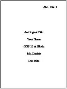 turabian title page