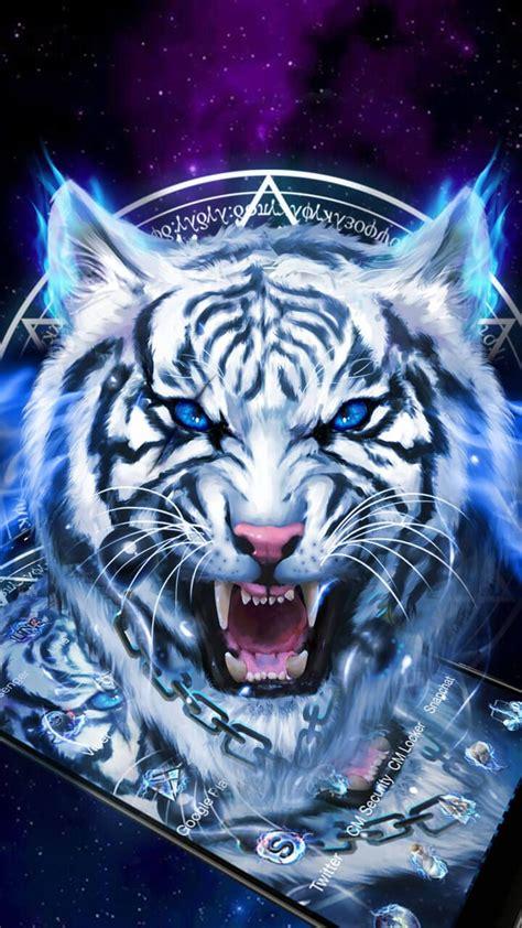 fearless ice neon tiger wallpaper theme wildlife