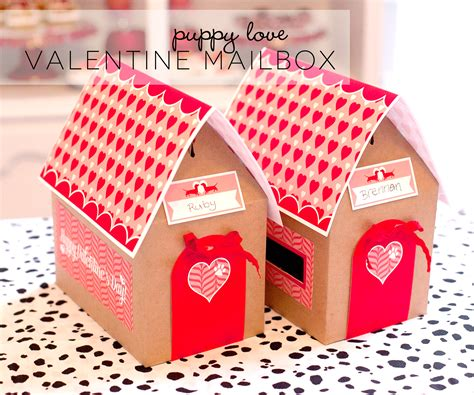 valentines boxes free printable mailbox project nursery