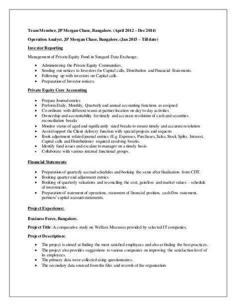 Kyc Analyst Sle Resume by Jp Analyst Resume 28 Images Business Banking Client Service Representative Analyst Jr