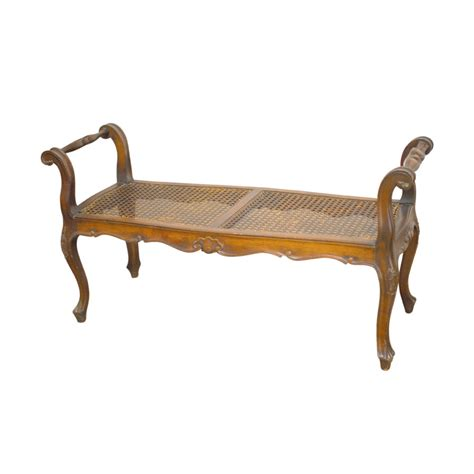 cane bench french carved cane bench seat haute juice