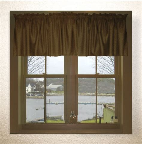 solid brown color valance in many lengths custom size