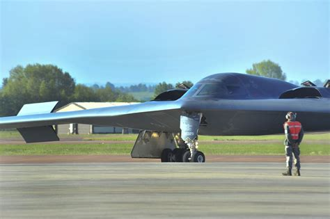 the aviationist 187 two b2 spirit stealth bombers join