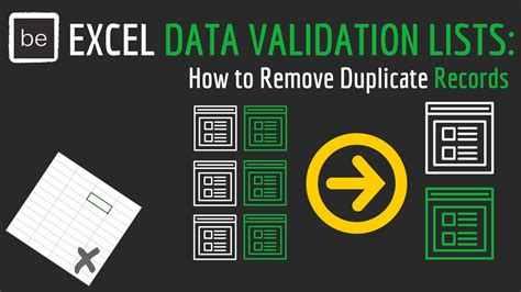 How To Remove Info From Records Dynamic Excel Data Validation Lists How To Remove Duplicate Records