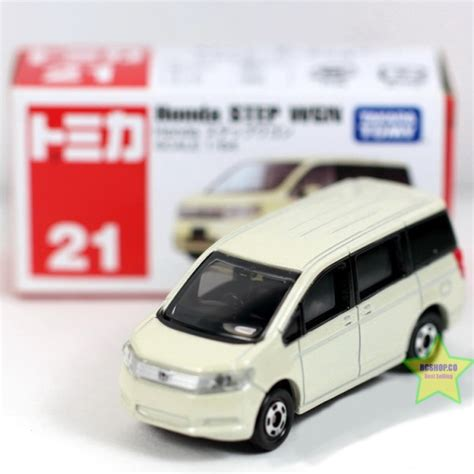 Tomica No 21 Takara Tomy Mobil Honda Step Wgn tomy car diecast 21 honda step wgn tomica toys