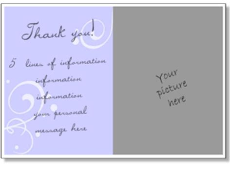 thank you card template insert picture personalized thank you card print a thank you greeting