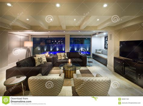 Beautiful Living Room With Tv Beautiful Living Room With A Tv Set Stock Photo Image