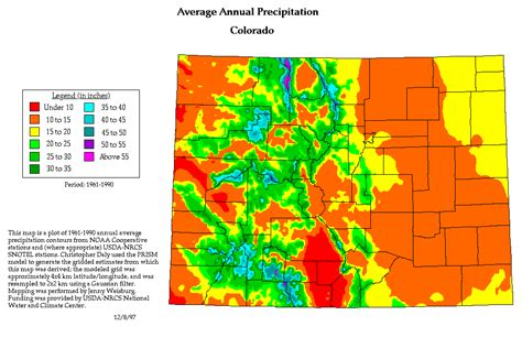 colorado temperature map basin colorado precipitation map