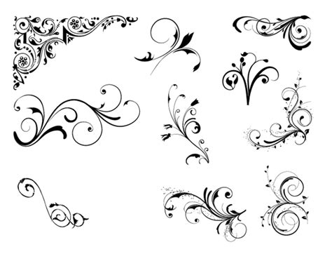 roundup of free vintage ornament amp floral vectors