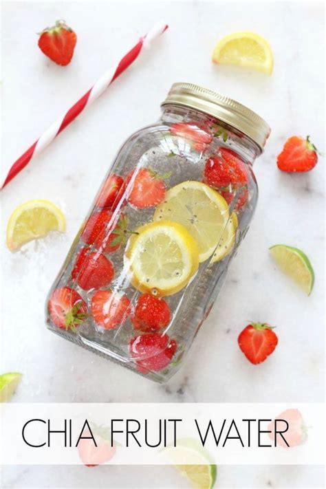 What Fruit Are In Water To Drink And Detox by Chia Fresca Fruit Infused Water Smoothies And Water Water