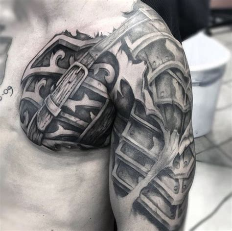 tattoo of armor for men cross tattoo pinterest