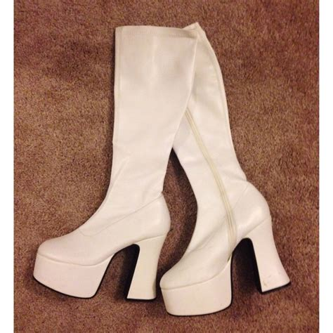 58 demonia boots white gogo boots from s