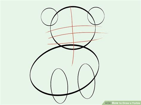 how to draw a yorkie step by step how to draw a yorkie with pictures wikihow